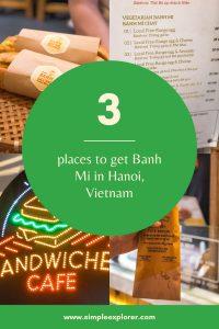 3 places to get banh mi hanoi vietnam