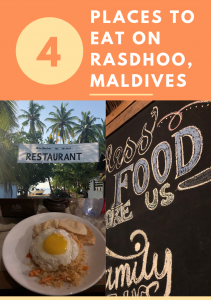 Title: 4 places to eat on Rasdhoo, Maldives
