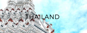 blue skys behind a thai temple