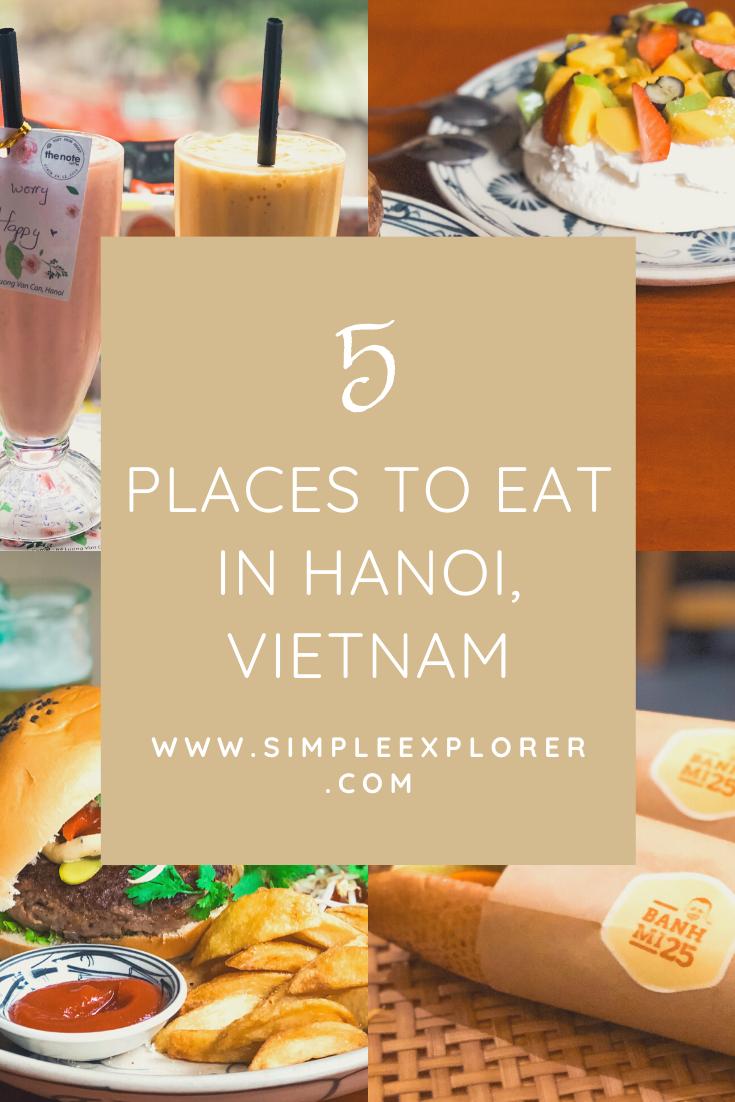 5 PLACES TO EAT IN HANOI VIETNAM