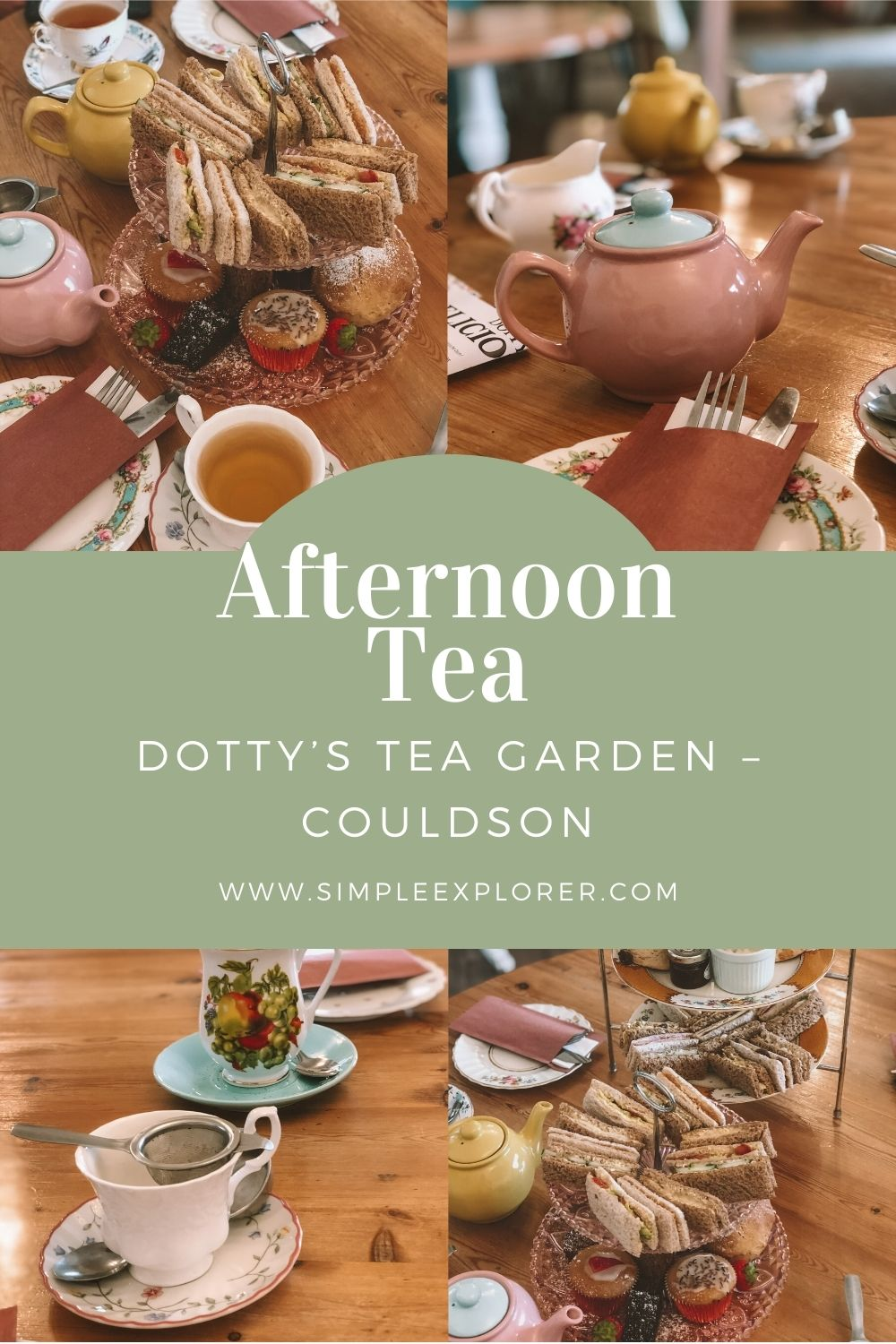 AFTERNOON TEA, DOTTY'S TEA GARDEN – COULDSON