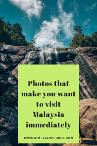 title: PHOTOS THAT MAKE YOU WANT TO GO TO MALAYSIA IMMEDIATELY. with a photo of a waterfall in the background.
