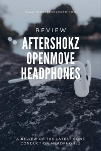 Headphones behind title