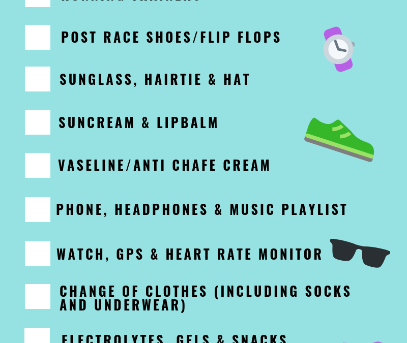 RACE DAY PREP CHECKLIST