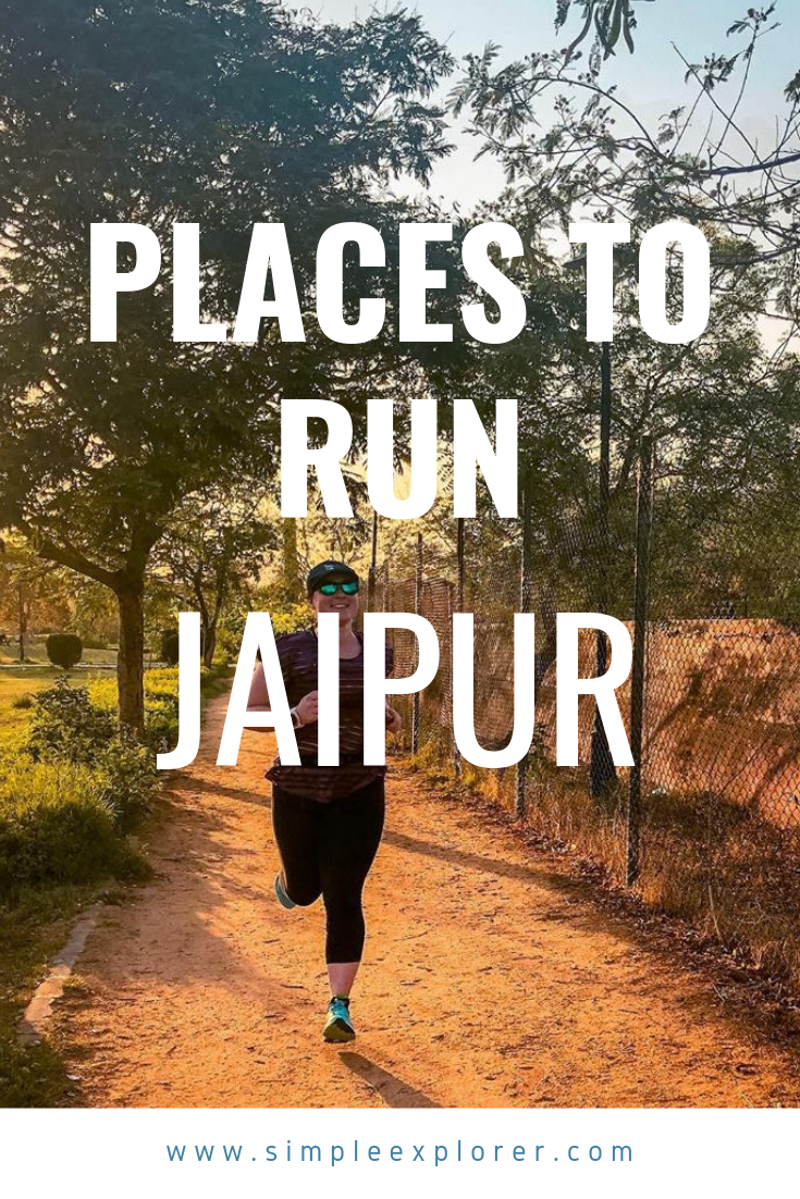 Title: PLACE TO RUN - JAIPUR. A girl running at a sand park